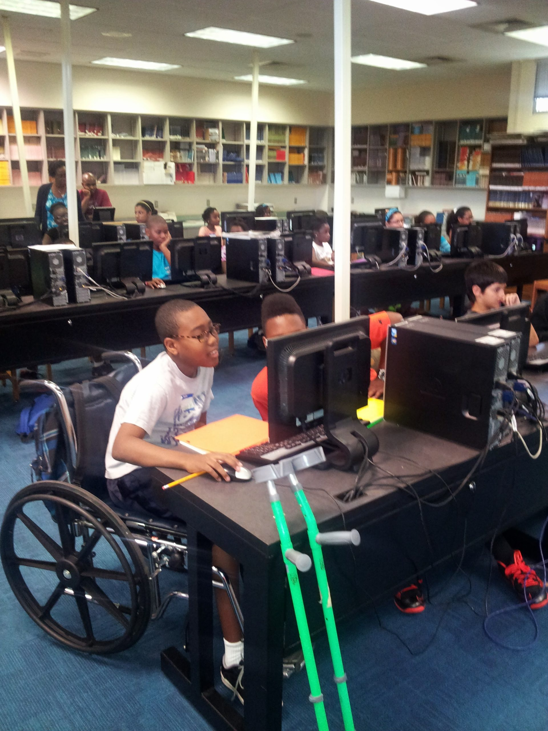 P.E.C. Summer STEM Camp. Students at Maitland Middle School.